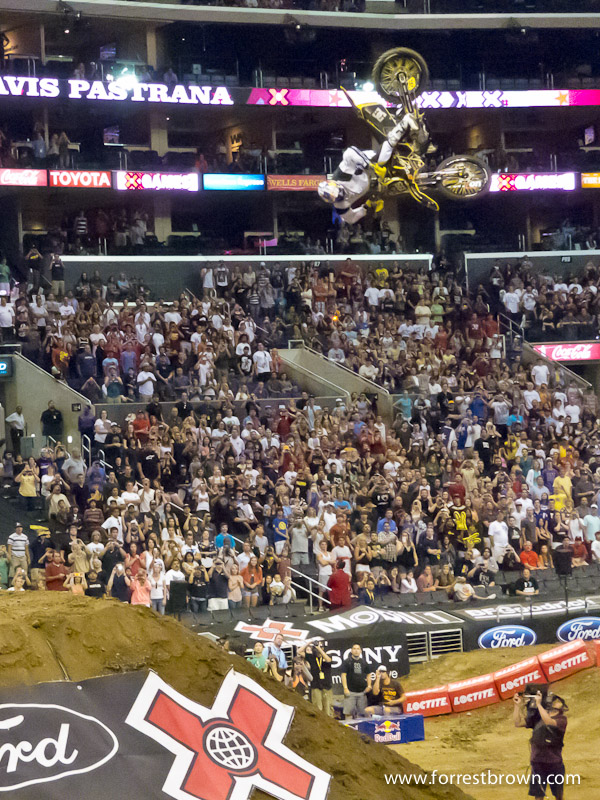 X-Games 17 at LA Live in downtown Los Angeles. Moto X Best Trick.