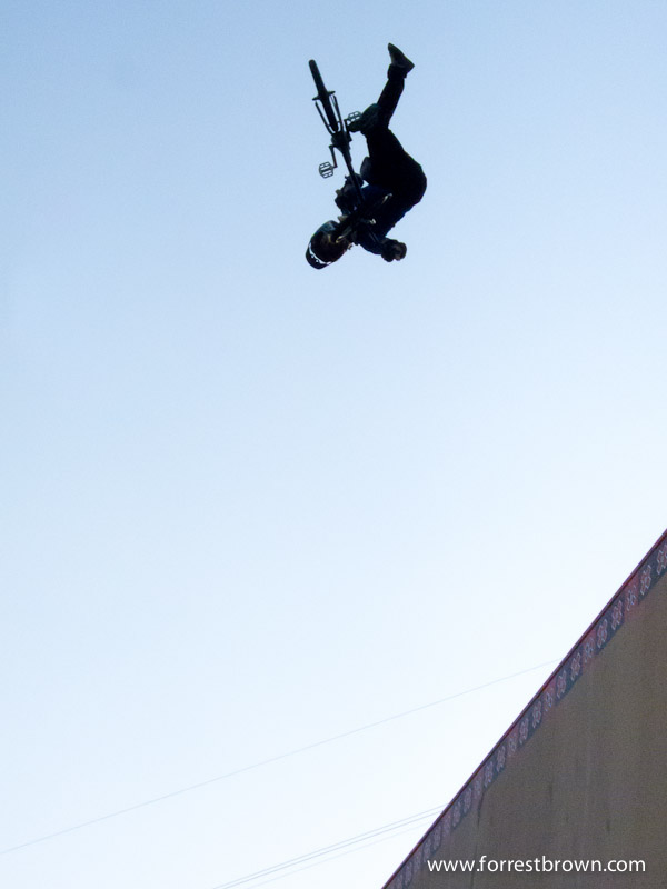 X-Games 17 at LA Live in downtown Los Angeles. BMX Big Air.