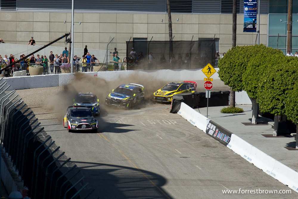 X-Games 17 at LA Live in downtown Los Angeles. Rallycross.