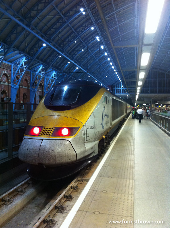 Eurostar from Paris to London.