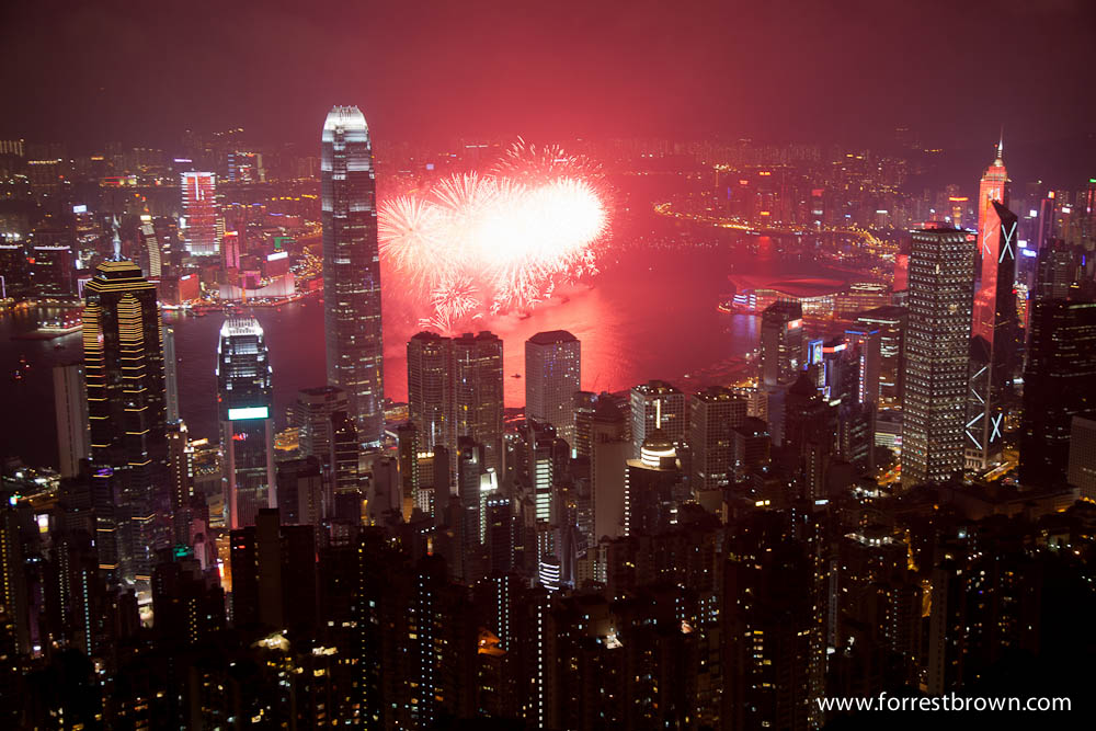 2011 National Day fireworks in Hong Kong.