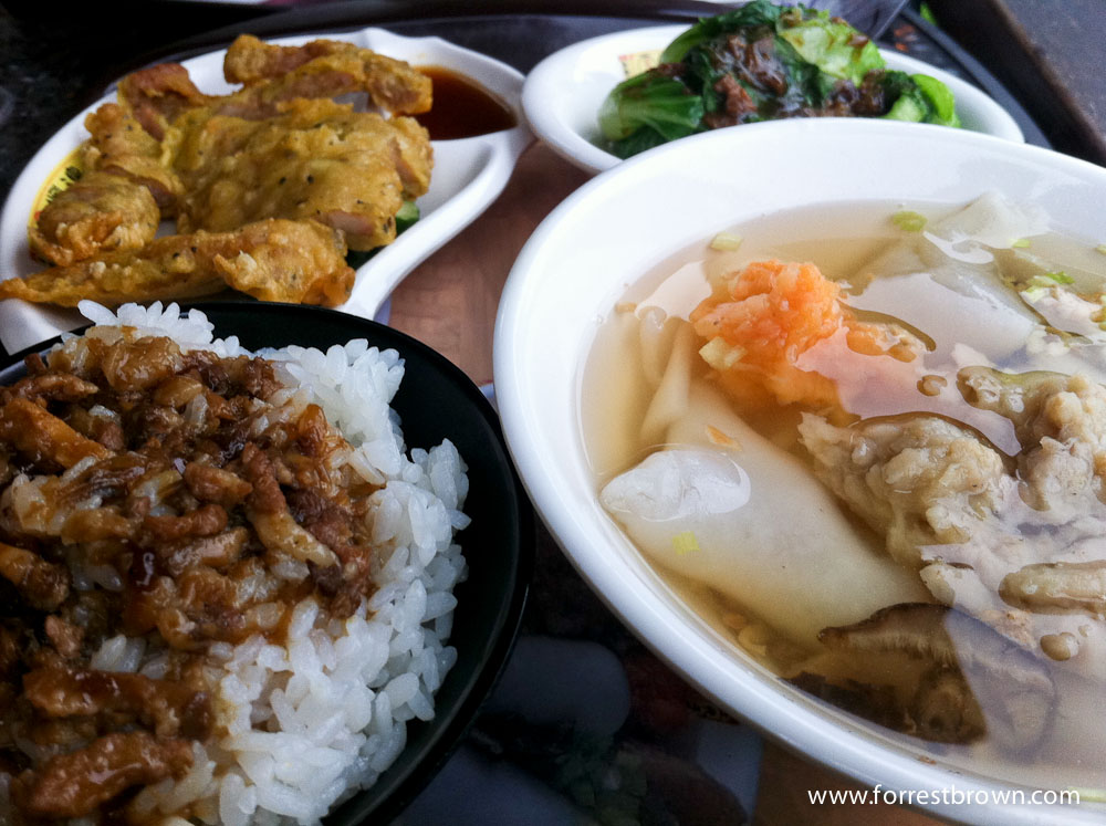 taiwan food places The best taiwanese food you have to try  pork chop rice is a normal lunchbox or bian dang dish but there are some places in taiwan that has turned this fast train food into a specialty they fry the pork chop so it's nice and crispy and it's eaten with a bowl of rice and vegetables.