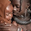 Himba Girl and Her Baby Brother
