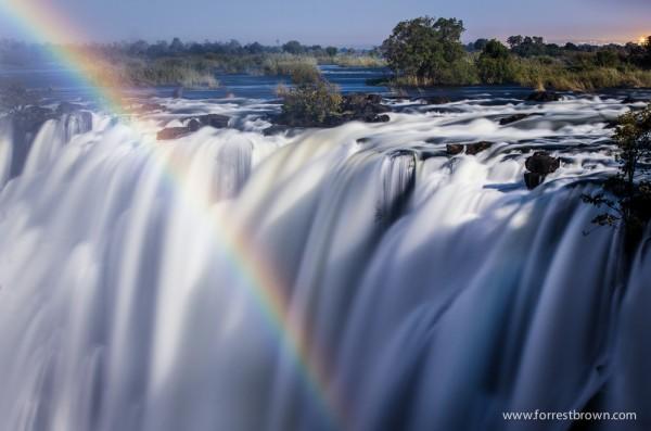 Moonbow over Victoria Falls