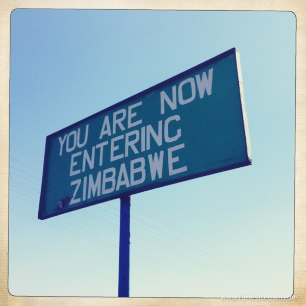 Entering Zimbabwe